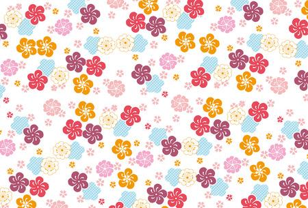 벚꽃의 배경 무늬 일러스트