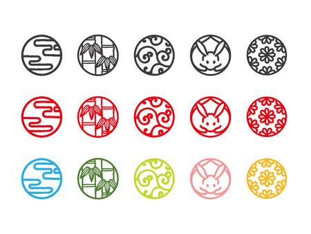 일본 전통 문화 아이콘