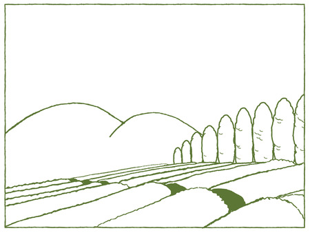 tea plantation: Tea plantation Illustration