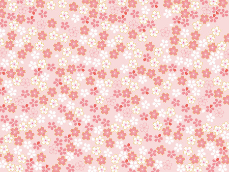 Spring pink cherry blossoms background 向量圖像