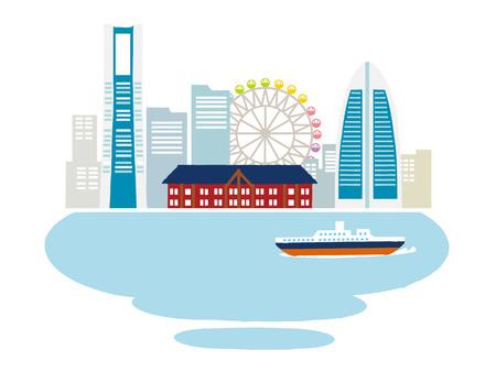 図では、横浜、ベクトル