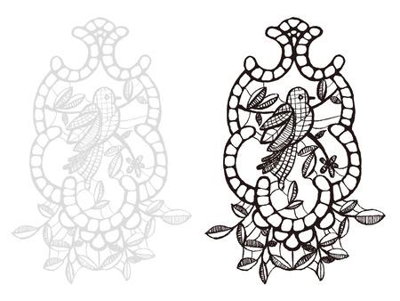 adorn: lace materials, woven stuff, beautiful Illustration