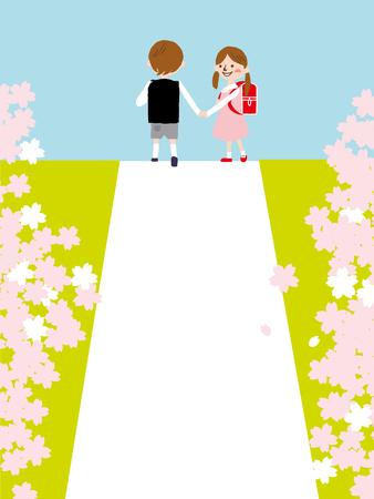 schoolkids: Japanese entrance ceremony of elementary school