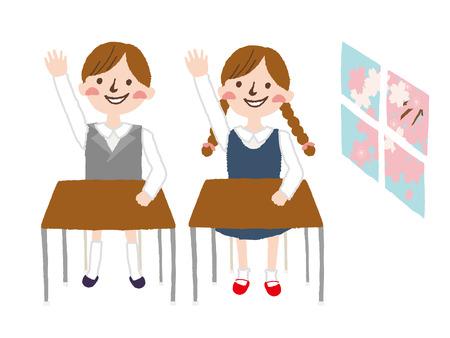 Elementary school students in Japan