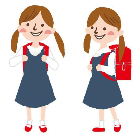 schoolkids: Elementary school students in Japan