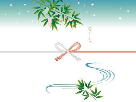 lucky charm: TANABATA festival noshi paper: japanese envelope decoration Illustration