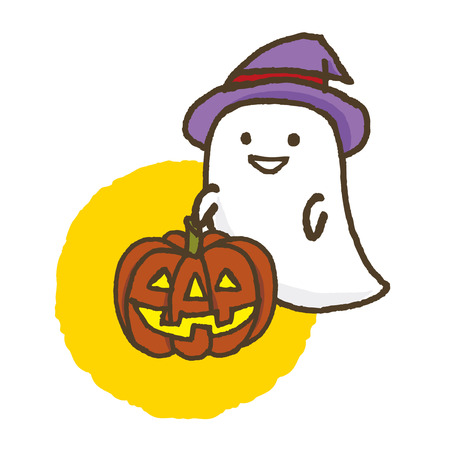 halloween ghost with lantern