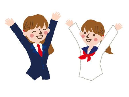 graduate asian: happy student  vector illustration