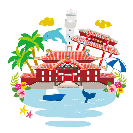 Okinawa illustraties