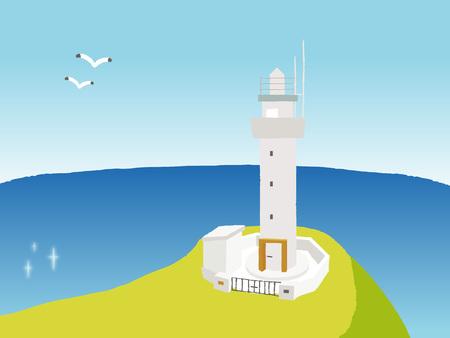 沖縄・石垣島の平久保崎灯台。