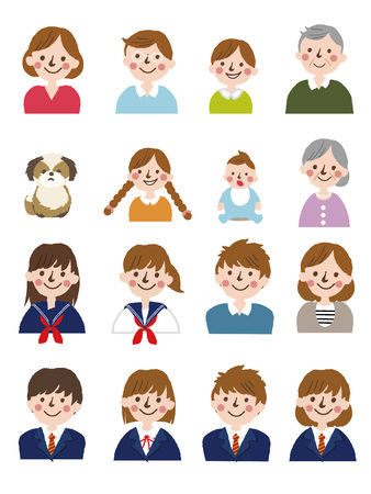 People generations at different ages.