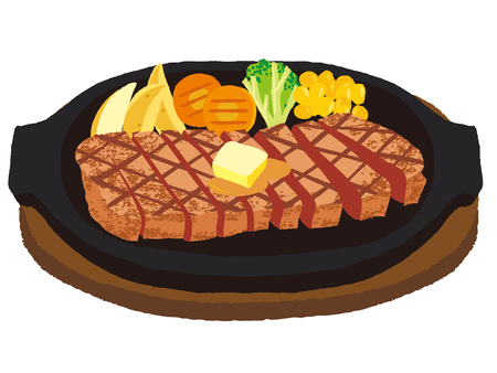 Cut and divided steak