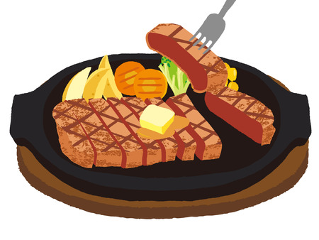 slit: Cut and divided steak