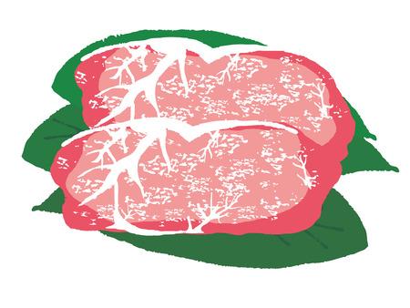 ステーキのお肉  イラスト・ベクター素材