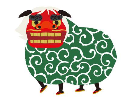 lion dance, vector Illustration