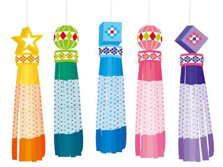 Japanese Sendai Tanabata Festival