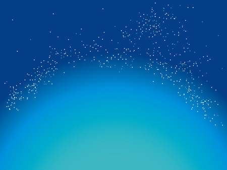 body scape: starry sky Illustration