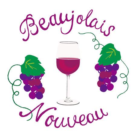 beaujolais nouveau 일러스트