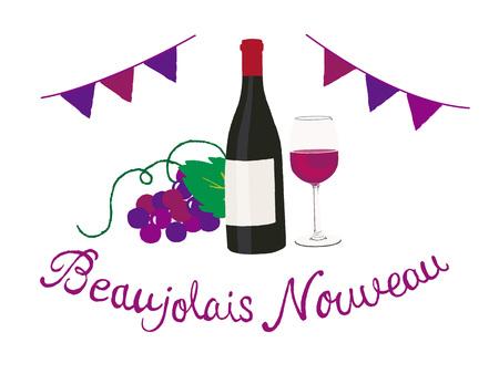 beaujolais nouveau Ilustrace