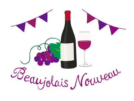 beaujolais nouveau Иллюстрация