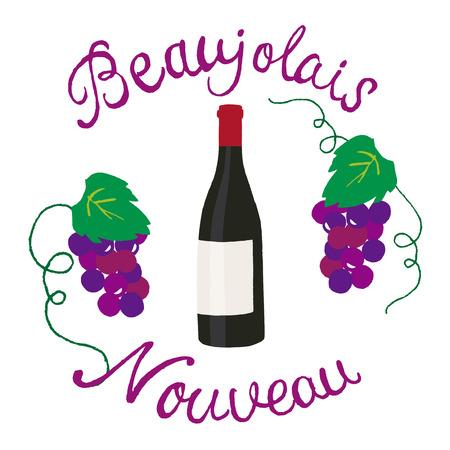 wine red: beaujolais nouveau Illustration