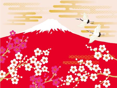 Crane, mt.fuji