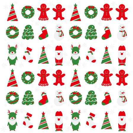 gift paper: Christmas illustration