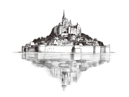 Mont Saint-Michel illustraties