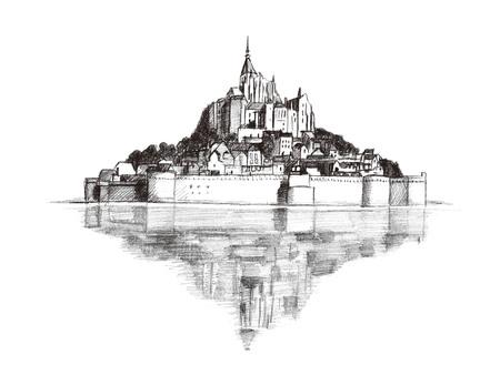 Mont Saint-Michel illustrations