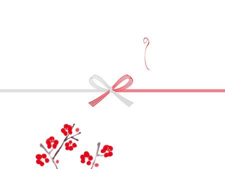 Plum noshi paper: japanese envelope decoration Reklamní fotografie