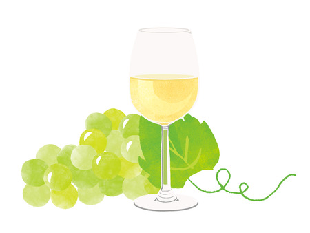 white wine: white wine, white grape Stock Photo