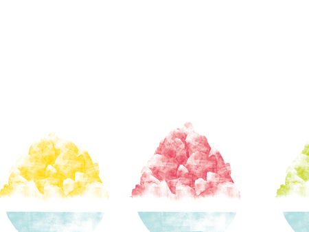 Japanese shaved ice illustration Stock Photo