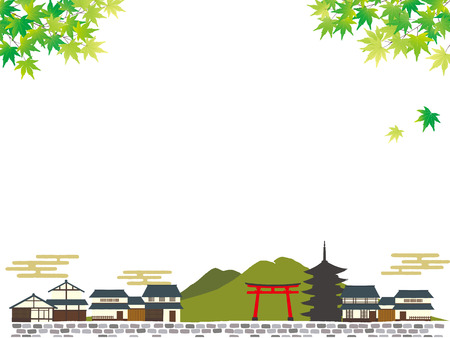 Illustration of Kyoto, Japan 矢量图像