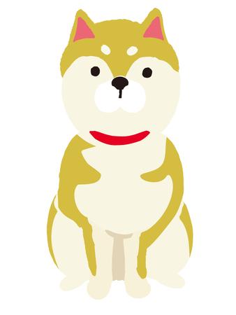 Shiba Inu Dog Cartoon Illustration