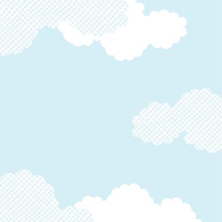Vector Japanese cloud pattern background textured Illusztráció