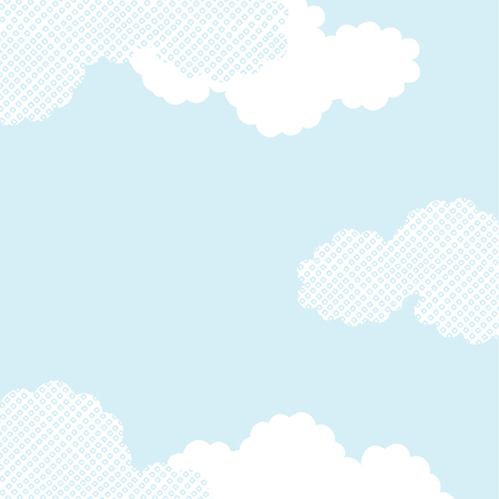 Vector Japanese cloud pattern background textured Ilustração