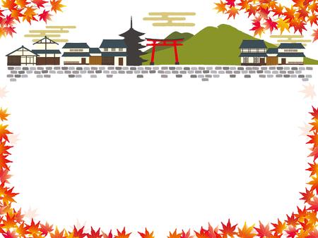 Illustrazione di Kyoto, Giappone Archivio Fotografico - 83808866