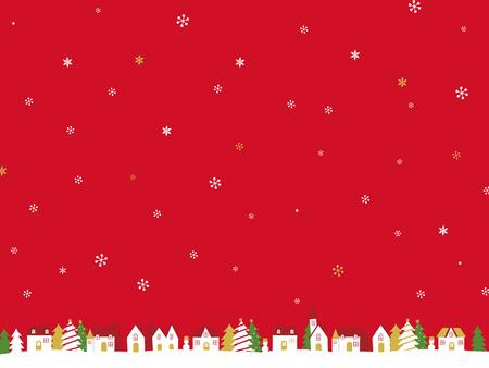Christmas landscape Ilustração Vetorial