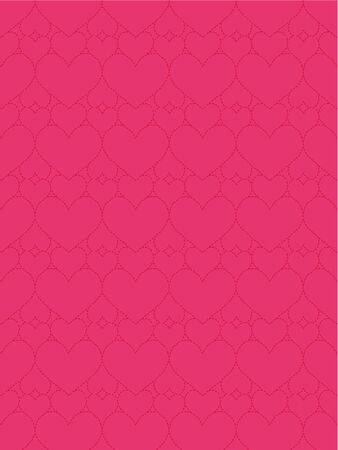 Pink leather background with hearts for Valentines Day