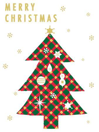 Tartan Christmas tree Vector illustration. Illustration