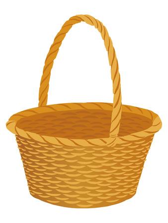 Basket icon in white back drop Illustration