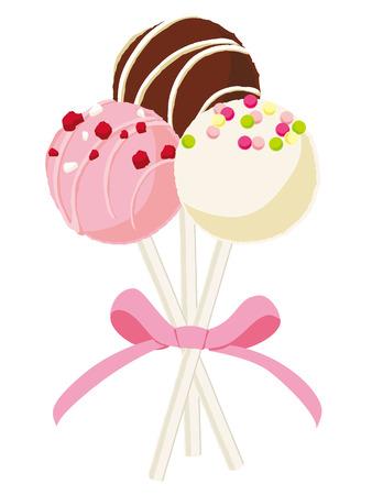 Lollipop chocolate illustration Illustration