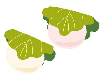 Japanese confectionery Vector illustration.