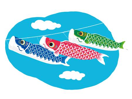 Illustration de banderoles de carpe