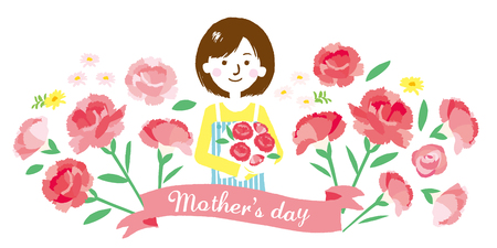 Mother's Day illustration Stock Illustratie