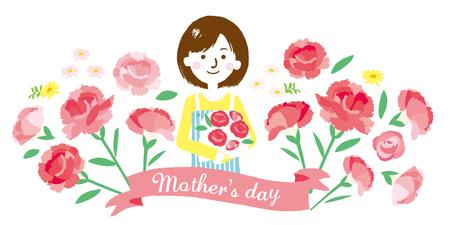 Illustrazione della festa della mamma Vettoriali