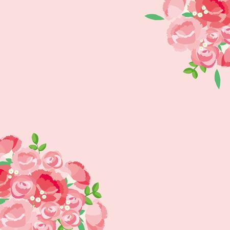 Ilustracja na Dzień Matki Goździków