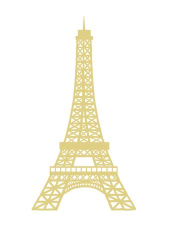 Eiffel Tower  Illustration Isolated Vector Icon