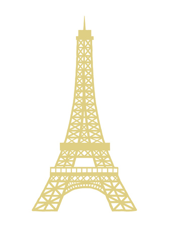 Eiffel Tower  Illustration Isolated Vector Icon