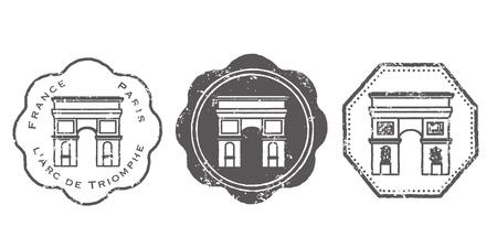 Arc De Triomphe stamp set
